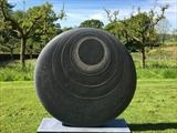 Cycladic Moon by Dominic Welch, Sculpture, Kilkenny Limestone