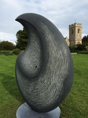 Blue Angel IX by Dominic Welch, Sculpture, Kilkenny Limestone