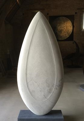 Carrara Form V by Dominic Welch, Sculpture, Carrara marble