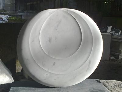 Carrara Moon II by Dominic Welch, Sculpture, Carrara Marble