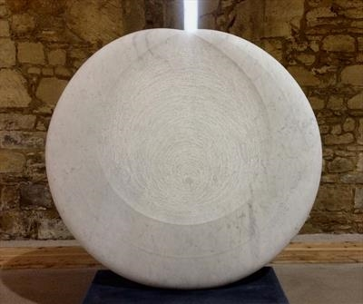 Carrara Moon VI by Dominic Welch, Sculpture, Carrara marble