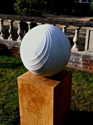 Carrara Sphere by Dominic Welch, Sculpture, Carrara Marble