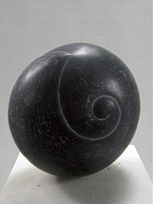 Curled Form by Dominic Welch, Sculpture, Kilkenny Limestone