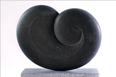 Embryonic X by Dominic Welch, Sculpture, Kilkenny Limestone