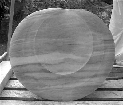 Mythos Moon by Dominic Welch, Sculpture, Greek Marble