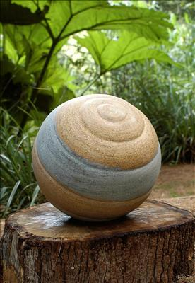 Saturn Sphere by Dominic Welch, Sculpture, Ancaster Weatherbed Limestone